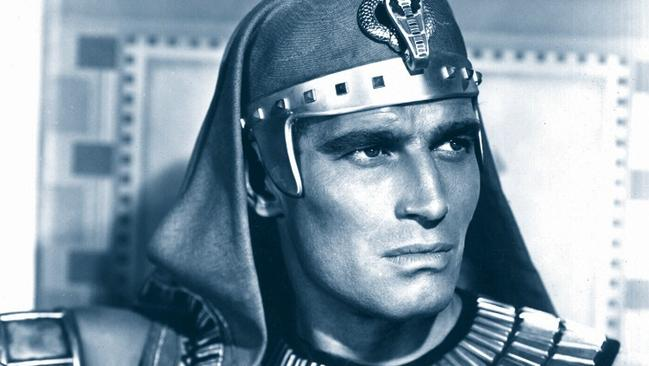 Charlton Heston: smouldering.