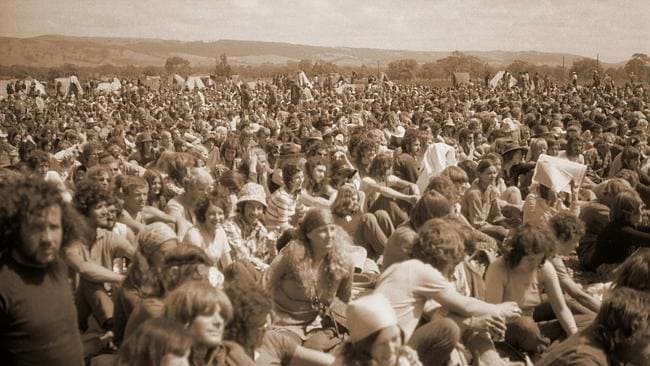 The Myponga Pop Festival in full swing on a farm 60km south of Adelaide in the summer of 1971. No smoking allowed.