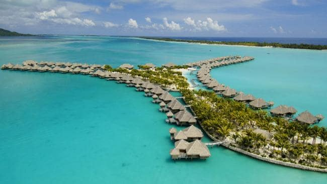 St Regis Resort and Spa in Bora Bora, Tahiti. Picture: Supplied
