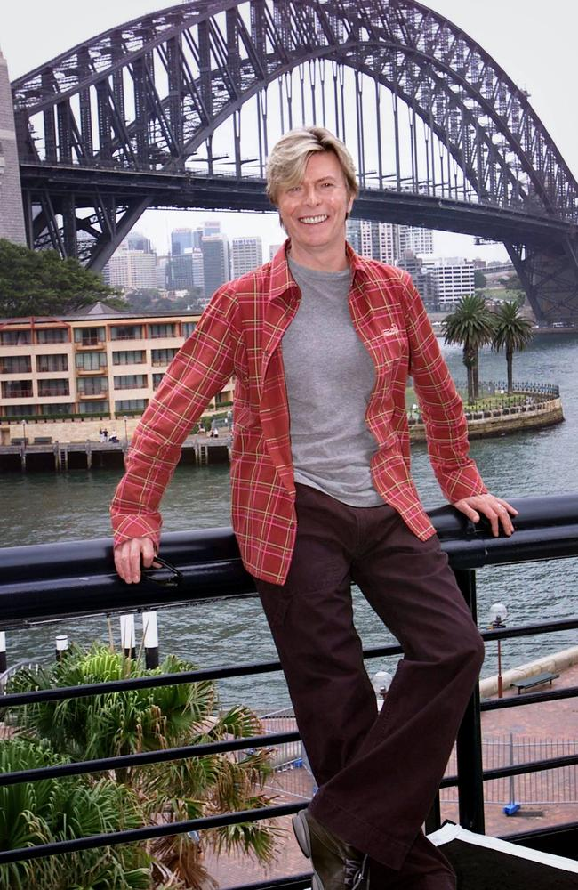 Bowie lived in Sydney while recording his Tin Machine record. Picture: Justin Lloyd.
