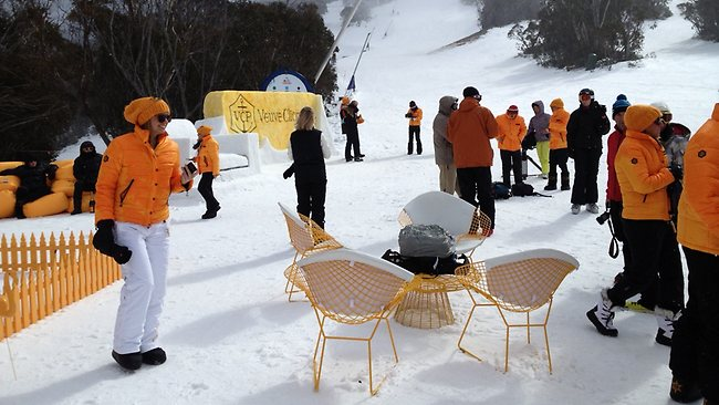 Guests at the annual Clicquot In The Snow event, 2013.