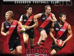 <p>Essendon gave Angus Monfries a parting gift before trading him to Port Adelaide by sticking him on the cover of the club's 2013 calendar.</p>