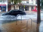 Streets flooded in Fremantle. Picture by PerthNow reader Daniel Beaujouan.