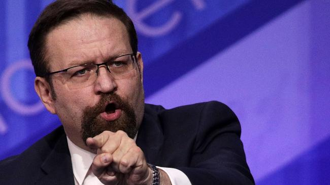 Former deputy assistant to US President Donald Trump, Sebastian Gorka. Picture: Getty Images
