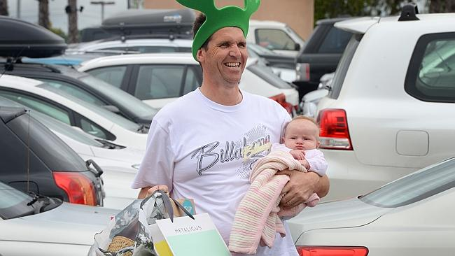 Brendan Mc Veigh took his daughter Adelie to Chadstone Shopping Centre for some last minute presents.