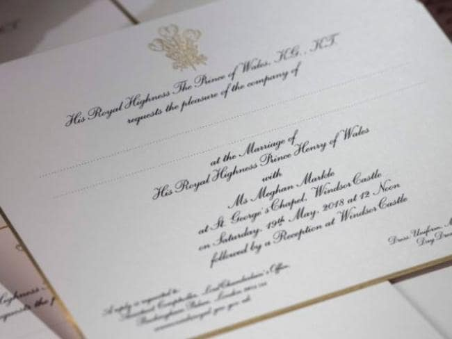When Should Invitations Be Sent Out For A Wedding: Meghan Markle's Real Name Left Off Wedding Invitation To
