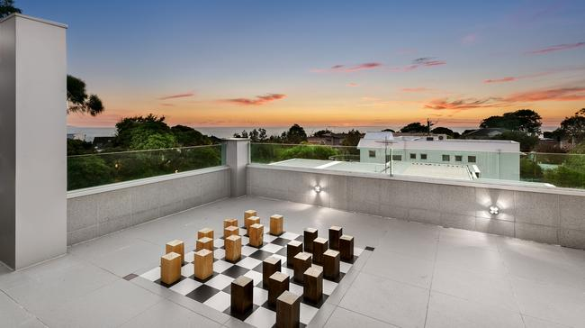 Place a bit of chess while enjoying the view.