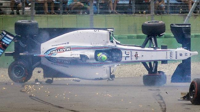 Felipe Massa sees the world from a different angle in Germany.