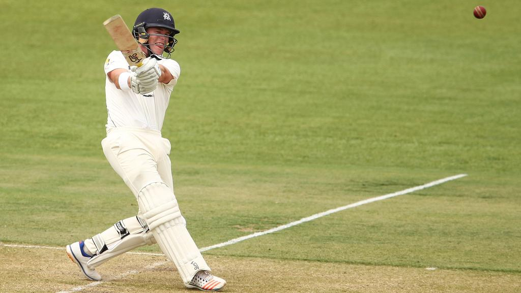 Marcus Harris smashed South Australia's attack all over Alice Springs on day one of the Sheffield Shield final. Picture: Getty Images