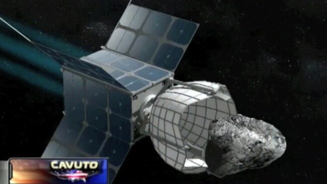 Deep Space Industries catching an asteroid