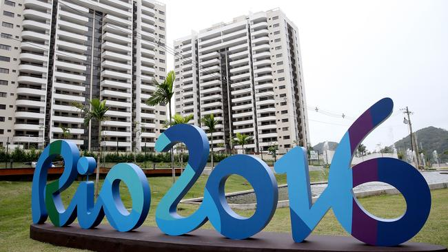 More than 10,000 athletes are moving into Olympic Athlete Village for the 2016 Rio Olympic Games. Picture: Matthew Stockman/Getty