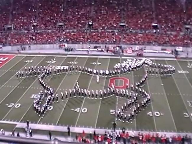 Video game classics: Ohio State Marching Band create a galloping horse in Legend of Zelda tribute. Picture: You Tube