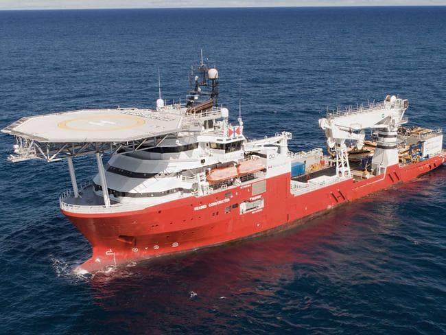 Norwegian research vessel  <i>Seabed Constructor</i> is the most advanced civilian exploration vessel on earth. Picture: Swire Seabed