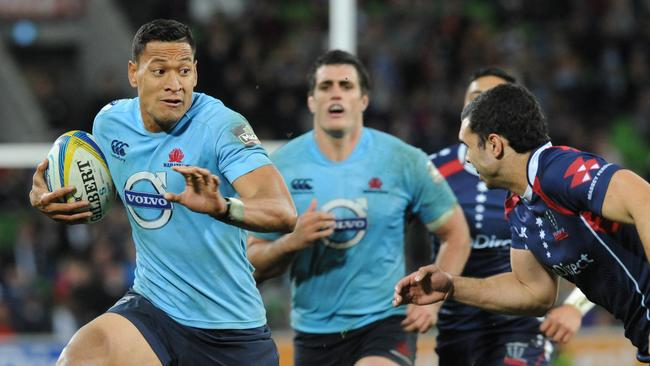 Israel Folau (L) has scored a competition-high 11 tries.