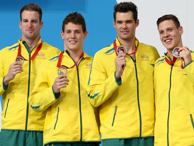 James Magnussen, Jayden Hadler, Christian Sprenger and Mitch Larkin.