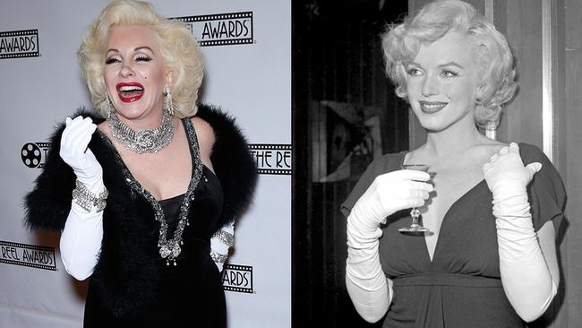 This impersonator didn't look much like iconic blonde bombshell Marilyn Monroe.