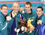 <p>Why is Australiana so tacky? ... Todd Pearson, Michael Klim, Ian Thorpe and Bill Kirby with their gold medals from the 4x200 freestyle relay at the Sydney 2000 Olympic Games / Brett Faulkner</p>