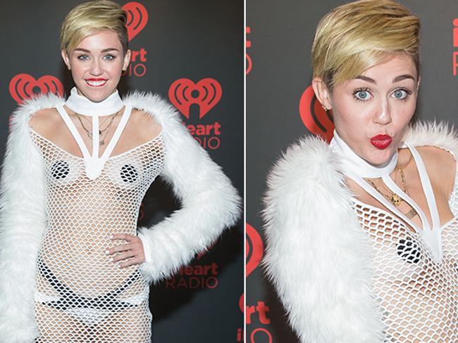 Just when you thought Miley couldn't wear any less... Picture: Splash