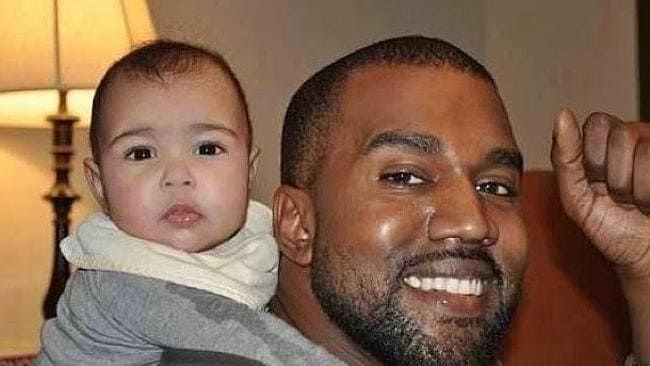 North West and her dad Kanye West. Picture: Supplied