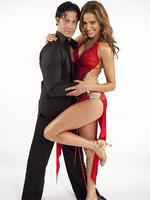 On the set of Dancing With The Stars 2010: Former Miss Universe contestant Rachael Finch fell for her dancing partner Michael Miziner. The pair married last year before welcoming a baby girl. Picture: Supplied / Channel 7
