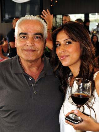 Mick's wife Carolina and father Ahmad in 2009.