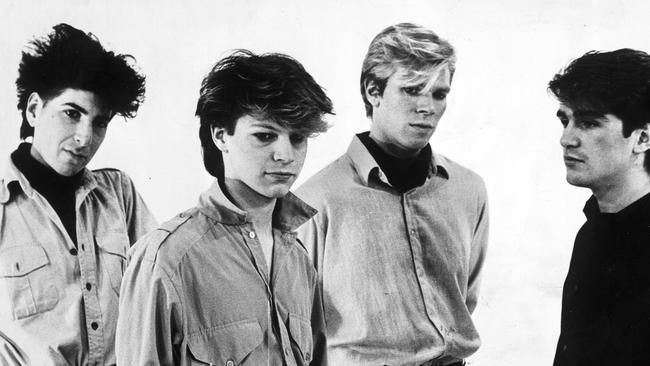 Hair supply: Pseudo Echo were the first unsigned act to be played on Countdown. Picture: News Corp Australia