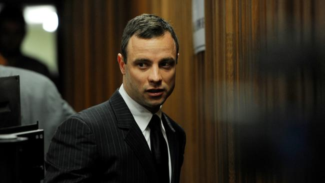 Oscar Pistorius arrives at the Pretoria High Court during the week.