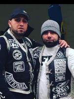 Mouhamed 'Moudi' Tajjour (right) with his brother Sleiman 'Simon' Tajjour. Moudi says he's left the Nomads and is no longer involved in gang life.