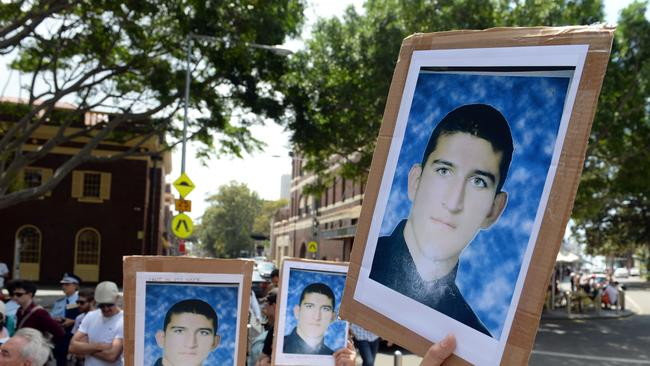 Tragedy ... the death of Reza Berati on Manus Island caused protests across the nation.
