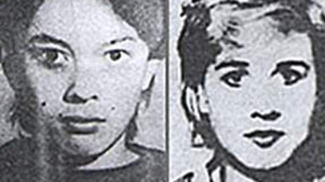 Julia Shapovalova, one of Popkov's first victims (right) and another of the women he murdered.
