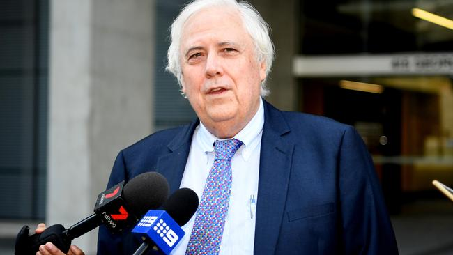 Clive Palmer outside the Supreme Court, in Brisbane last week. Picture: AAP.