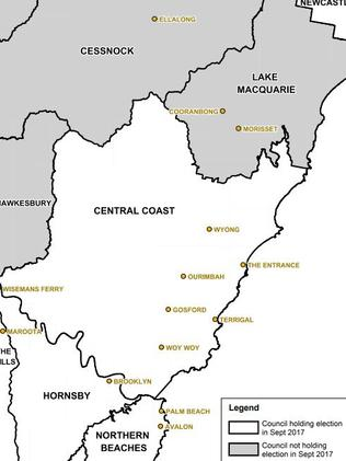 Central Coast's voting councils.