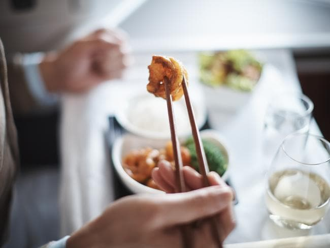 Business Class dining caters to a range of palettes and cultural preferences on Cathay Pacific.