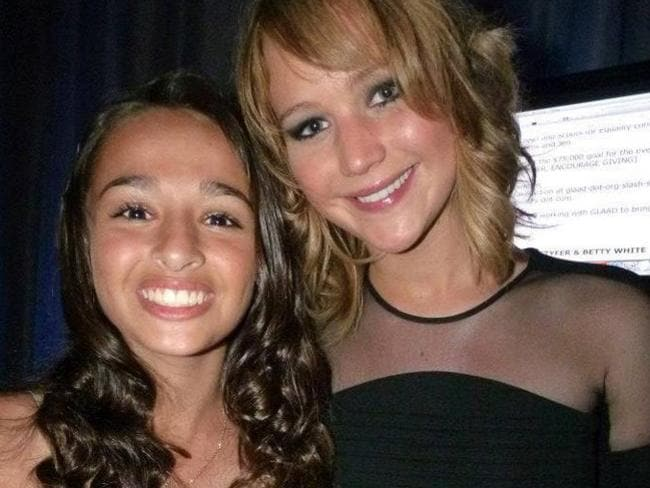 Famous friends ... Jazz Jennings and Jennifer Lawrence. Picture: Facebook.