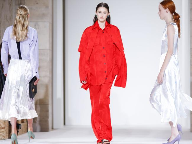 Models walk the runway for the Victoria Beckham SS18 show during New York Fashion Week in September 2017. Picture: AFP