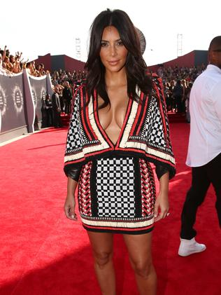 Kim Kardashian attends the 2014 MTV Video Music Awards.