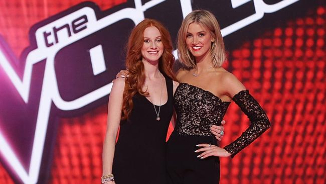 Celia Pavey and Delta Goodrem. Picture: Getty
