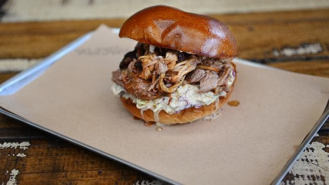 Red Bum BBQ's pulled pork roll. Picture: Nicki Connolly