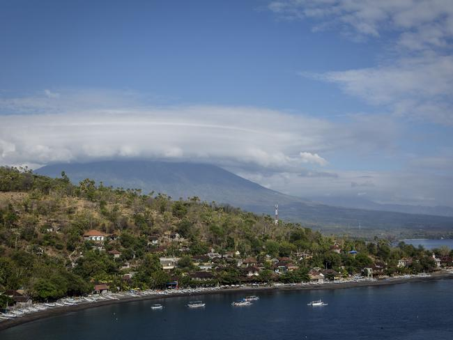 The alert level for the Mount Agung volcano is at the highest level. Picture: Ulet Ifansasti/Getty Images