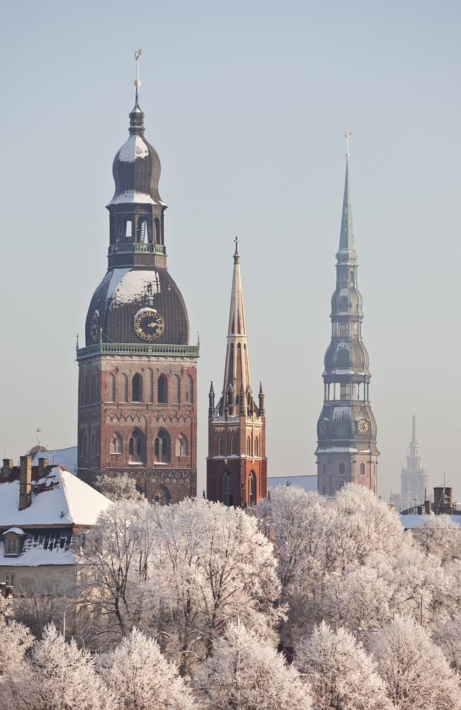 Riga towers in winter. Picture: Thinkstock