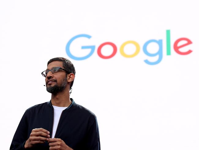 Google chief executive Sundar Pichai speaks during Google I/O 2016.