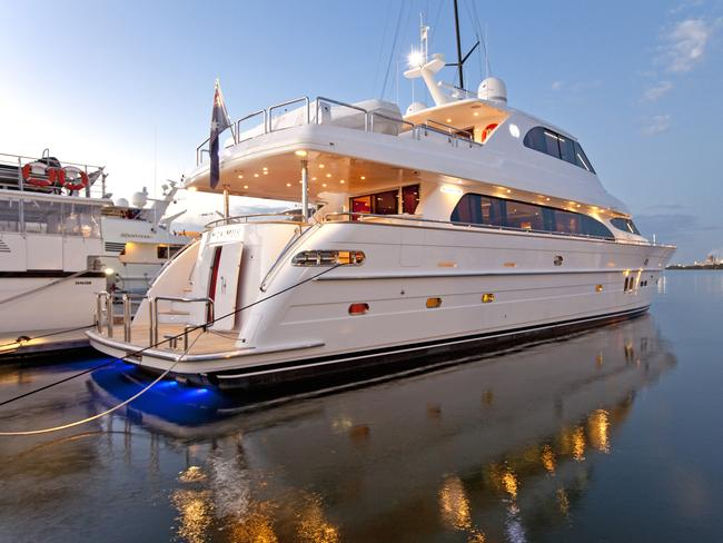 Lavish lifestyle ... Maximus, the 30-metre Horizon 98 super yacht once owned by former internet high-flyer Daniel Tzvetkoff, was repossessed and auctioned off.