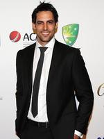 Mitchell Johnson on the red carpet of the 2014 Allan Border medal.Pic Brett Costello