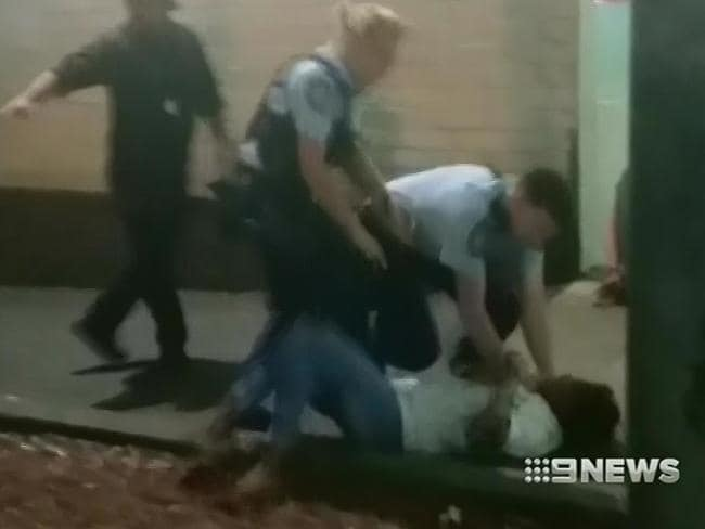 Police Association President, Scott Webber has defended the police's actions. Picture: Nine News