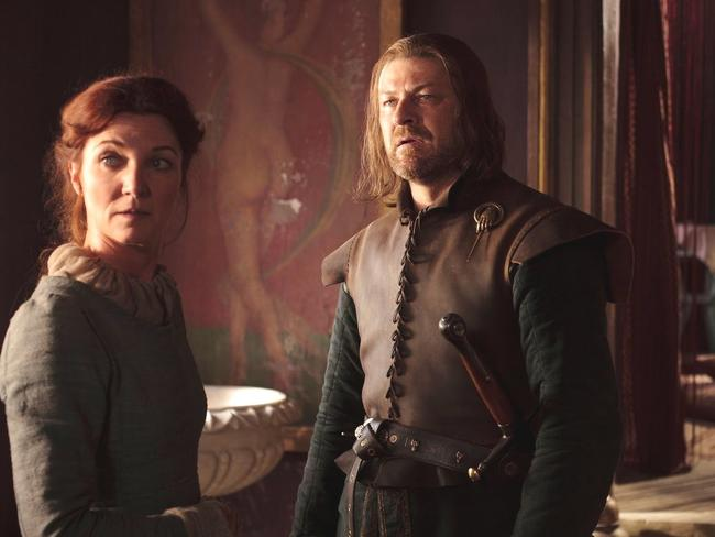 Game of Thrones couple Ned and Catelyn Stark. Picture: Supplied/Foxtel