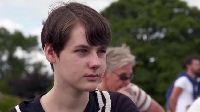 """""""I began to realise I was actually comfortable in my body,"""" said Patrick, of his decision to stop the transition into a girl. Picture: Channel 9"""