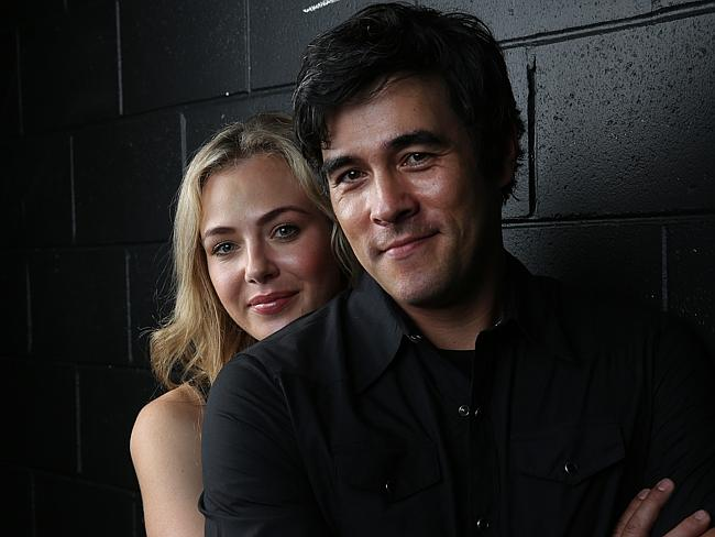In love ... Jessica Marais and her partner James Stewart, Picture: David Kelly