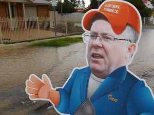 Ian Hunter surveys burst water mains.