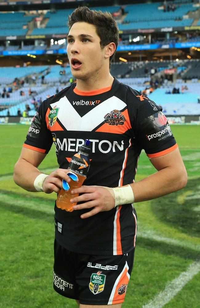 Mitchell Moses announced himself with a starring performance against the Bulldogs. Pic: Mark Evans