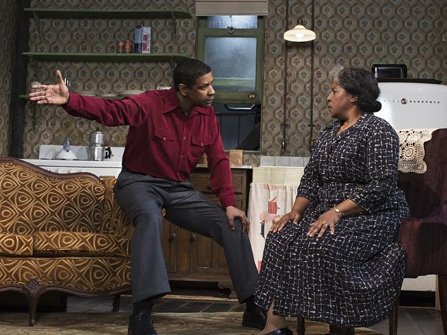 "Star power ... Denzel Washington, left, was snubbedy by Tony but co-star LaTanya Richardson Jackson scored a nod for their revival of ""A Raisin in the Sun"". Picture: AP"